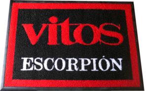 tapetes con logotipo en Queretaro Vitos Escorpion tapetes con logotipo en queretaro Elaboración de tapetes con logotipo en Queretaro tapete con logotipo queretaro vitos escorpion 300x184